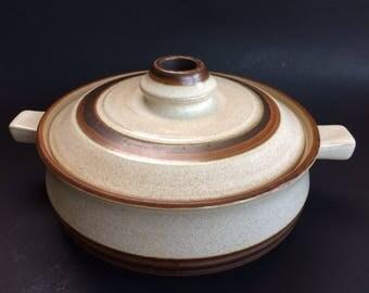 "Vintage 8"" Denby Brown Pottery Homestead Casserole Dish England"