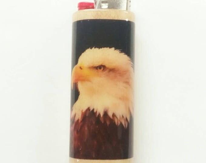 Bald Eagle BIC Lighter Case Holder Sleeve Cover American
