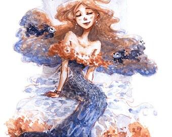 Kingyo Gown Art Print