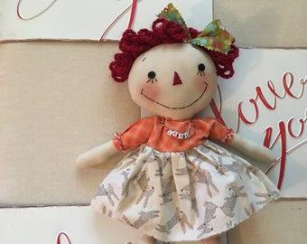Primitive Raggedy Ann Doll                                                                                      (FAAP)