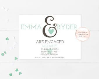 Engagement Party Invitation, We're Engaged, Celebrate Engagement Invitation, Printable Engagement Party Invitation, Trendy Printables [168]