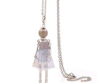 Charm yarn cloth dress doll necklace fashion necklaces for women big choker.