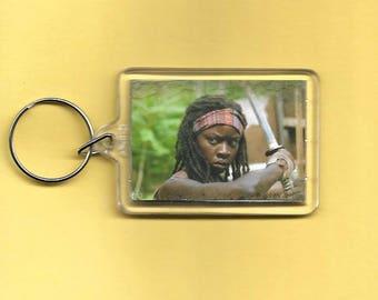The Walking Dead Rick Grimes Michone Plastic Keychain #1