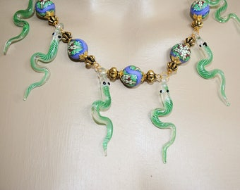 Baroque necklace - snake dance
