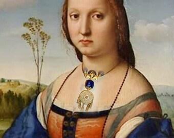 Baroque Necklace - blue Royal