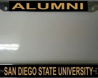 San Diego State University Alumni Chrome License Plate Frame