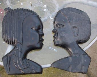 Pair Of Tribal Wall Masks