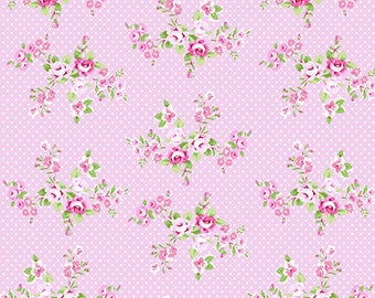 Charlotte-spring bouquet in pink by Tanya Whelan-ONE yard