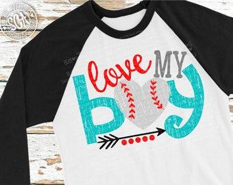Baseball SVG, Love my boy baseball cut file, Baseball mom svg, baseball mama svg, live love baseball svg design, socuteappliques