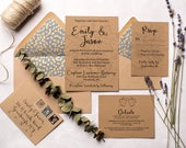 Rustic Brewery Wedding Invitations | Digital Download | Printable Wedding Invitations | Hops Wedding Invitation Suite