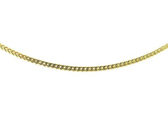 14k Yellow Gold Franco Chain, 14k Yellow Gold Necklace 18 Inches 3 grams