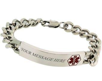 Summer Sale Medical ID Bracelet Personalized - FREE Engraving - Medical Alert Bracelet