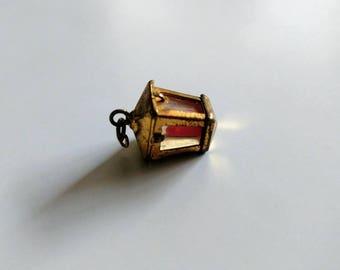 Vintage lantern pendant charm