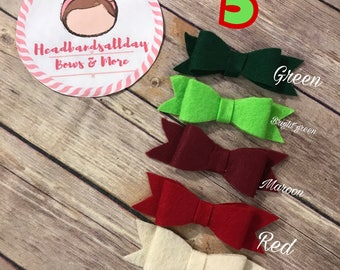 Holiday felt bow packs