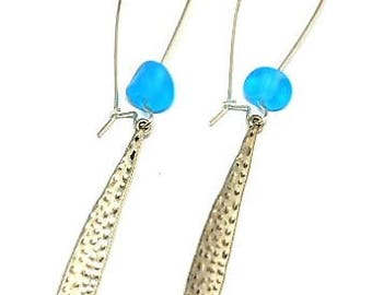 Earrings drop turquoise bead Stud Earrings