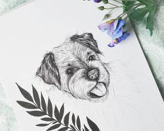 Custom Pet Portrait Illustration *Made to Order*