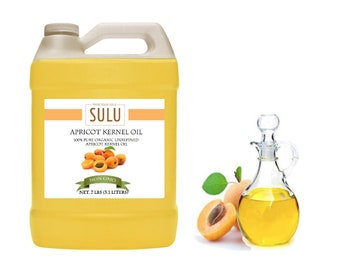 7 Lbs Fresh Organic Apricot Kernel oil cold pressed 100% pure oil from