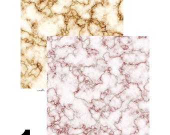 "LovedbyGaby scrapbook papers ""Marble"""