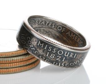 Missouri State Quarter Coin Ring