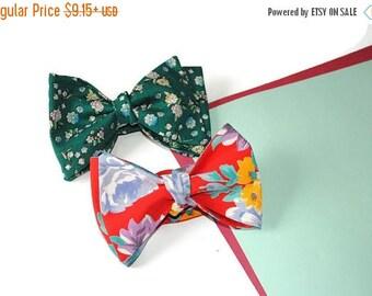 15% off boyfriend gift boyfriend birthday gift ideas men's red floral bow tie green floral bow tie red self tie bowtie green cuff links red