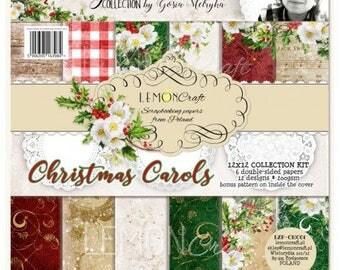 NEW Lemoncraft Christmas Carols 12x12 Designer Scrapbook Paper