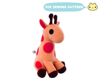 Stuffed Giraffe, Giraffe Pattern, Africa Giraffe Toy, Instant Download, PDF Sewing Pattern, DIY Giraffe Toy, Toy Pattern, PDF Stuffed Animal