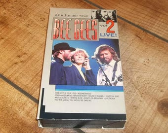Bee Gees VHS One For All Concert Volume 2,  Video Cassette Tape, Saturday Night Fever, Gibb Brothers, 55 Minutes, Concert Film
