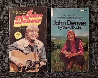 JOHN DENVER Books Paperback Editions from 1977 and 1976, Biography with Photos, Sunshine on my Shoulders, Colorado Singer Songwriter