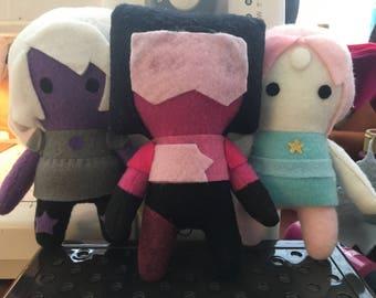 Steven Universe Crystal Gem Mini Pocket Plush Dolls