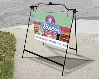"24"" x 18"" A Frame Sidewalk Sign - Full Graphic Design and Printing"