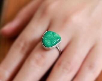 High grade broken arrow ring, sterling silver ring - Size US 6.75