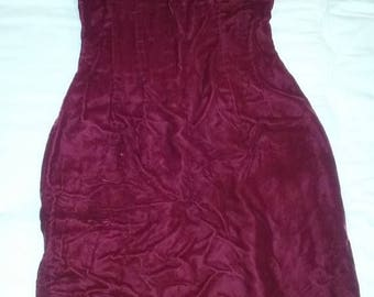 Red velvet bombshell pin up dress