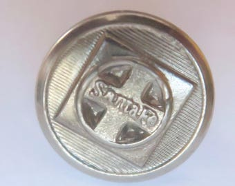 Santa Fe Railroad Button--American Railway Supply Backmark