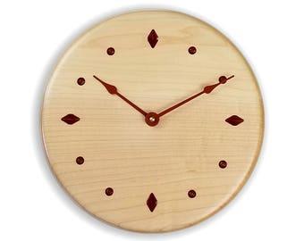 Maple wood clock. Modern clock. Minimalist clock. Contemporary clock. 10 inch wall clock. Designer clock.   CL5026