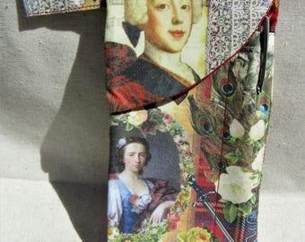 Romantic Scottish, Bonnie Prince Charlie, Outlander, Glasses & Pen Case, Unique design with Thready Mercury Pen, Gift for Crossword Fans.