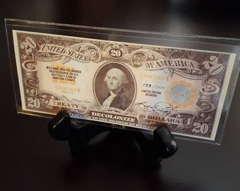 "Limited Edition ""Treaty Bucks"" designed by Oklahoma Cherokee Artist Bryan Waytula"