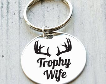 Trophy Wife Personalized Key Chain - Engraved