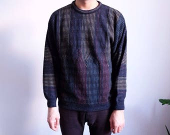 90s bueckle designer sweater unisex oversize wool made in germany