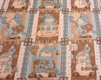 Cute Snowmen  5.5 yards Available  Free Shipping