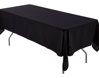 Attractive 60 X 108 Inch Rectangular Black Tablecloth Polyester | Wedding Tablecloth
