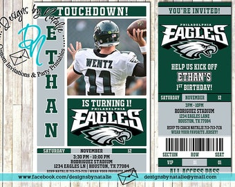Philadelphia Eagles Football Invitation