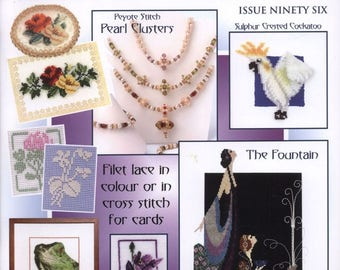 Jill Oxton's Cross Stitch & Bead Weaving 96 2016 - PDF ebook - Cross Stitch ebook - Beading Patterns - Instant download - pdf file