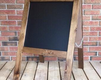 "Chalkboard Sandwich Board   A-Frame   Double-Sided   Perfect for Wedding or Business   Medium Lawn Sign   24"" x 24"" Chalkboard + 12"" Legs"