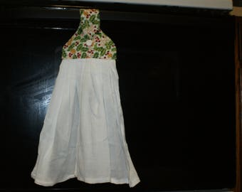 white holly hanging towel
