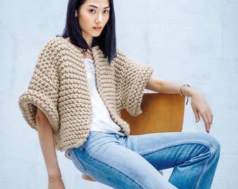 Gift women cardigan sweater knit jacket wool cardigan oversized cardigan sweater vest open cardigan hand knit cardigan neutral clothing gift
