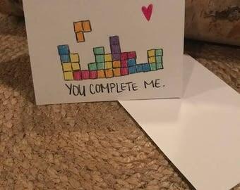 Valentines Day Card- Tetris