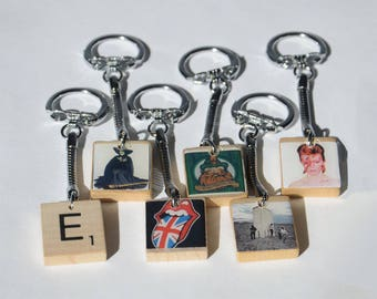 Scrabble Tile Key Chain
