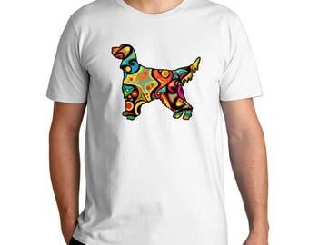 Psychedelic Gordon Setter T-Shirt