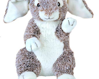 Recordable BUNNY RABBIT w/ 20 sec. digital recorder, recordable personal talking teddy bear, recordable stuffed animal, easter bunny