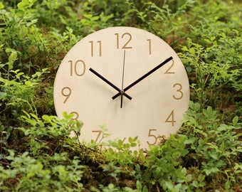 Wall clock / Wooden wall clock / Wood clocks / Large wall clock / Wall clocks modern / Clock / Wood wall clock / Silent wall clock